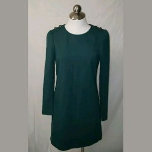 TOMMY HILFIGER Green Dress Size 6 Causal Great Det